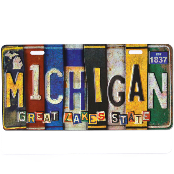Michigan Vintage License Plate