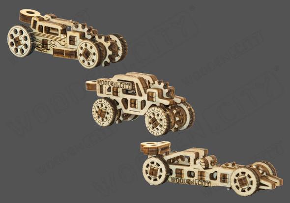 Wooden City Race Car Widgets