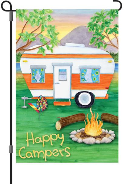 Happy Campers Garden Banner