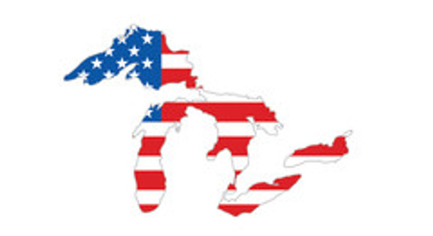 Great Lakes Proud Sticker - American Flag