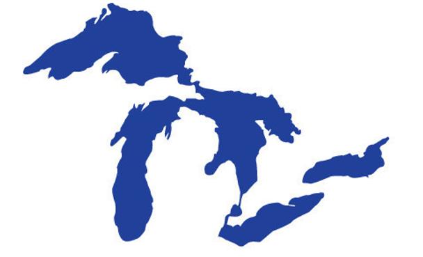 Great Lakes Proud Mini Dark Blue Sticker