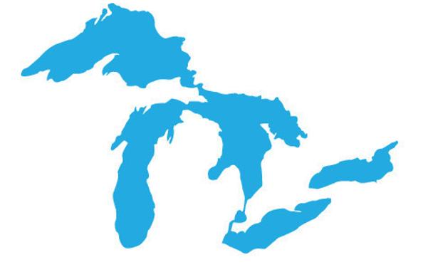 Great Lakes Proud Mini Light Blue Sticker