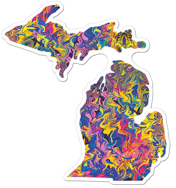 Michigan Art Sticker: The Sunset
