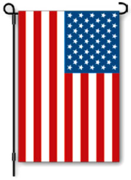 USA Flag Mini Garden Banner