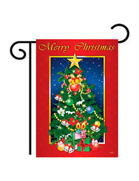 Merry Christmas Tree Garden Banner