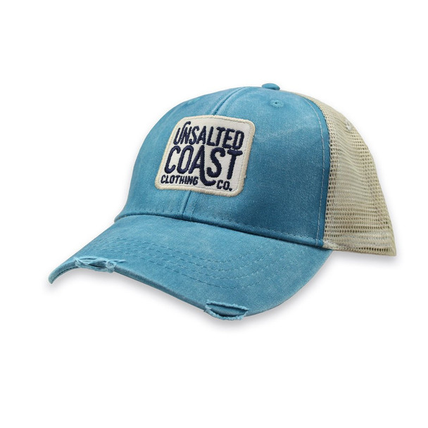 Unsalted Coast Distressed Trucker Hat