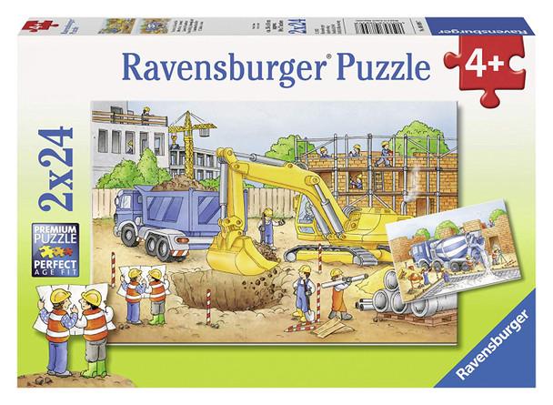 Construction Site 2x24 pc puzzle