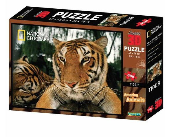 National Geographic 3D Tiger Puzzle