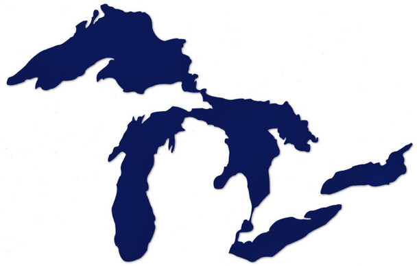 Great Lakes Proud sticker - dark blue