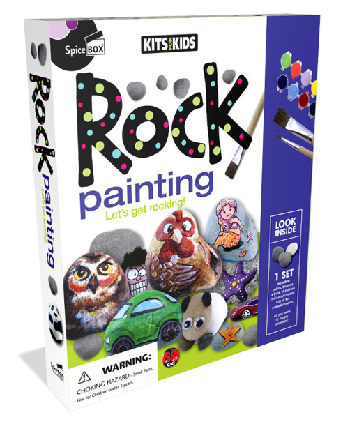 Rock Painting Kit for Kids by SpiceBox