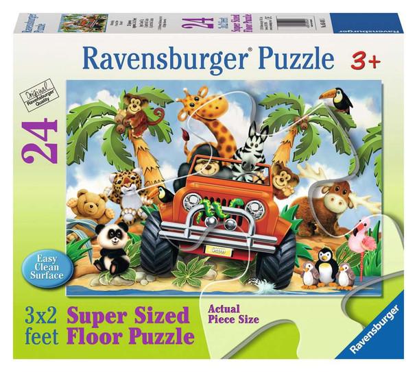 4-Wheeling 24pc Floor Puzzle by Ravensburger