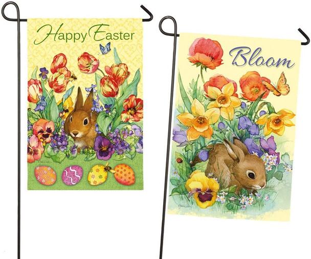 Easter Bunny Mini Garden Banner