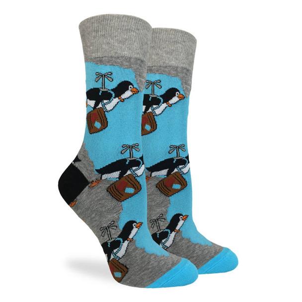Travelinig Penguin Socks by Good Luck Socks