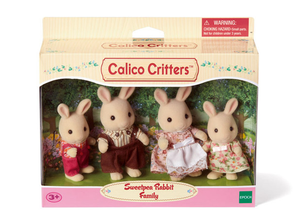 Calico Critters Sweet Pea Rabbit Family