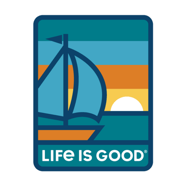 Sunset Sail Sticker- Life is Good