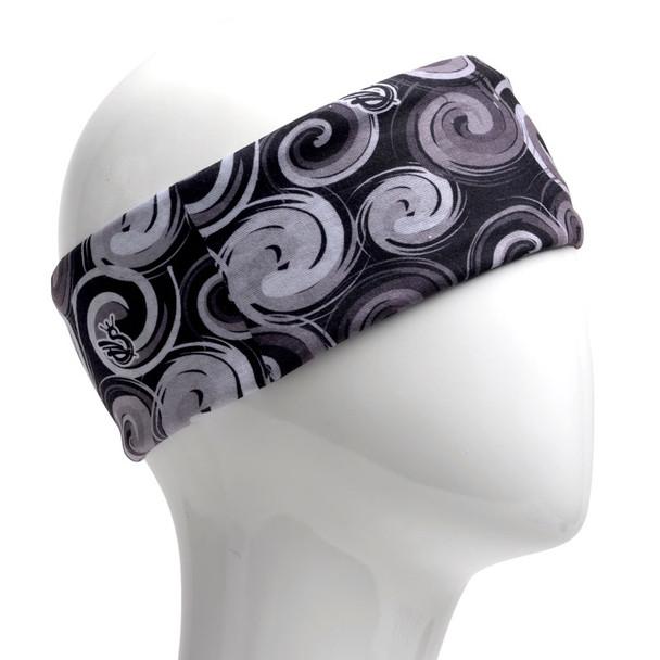 Black/Grey Spiral Infinity Headband