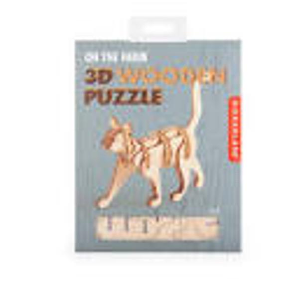 3D Wooden Puzzle- Cat