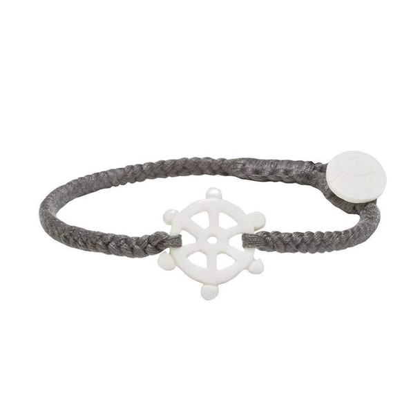WB Ship's Wheel Bracelet-Grey