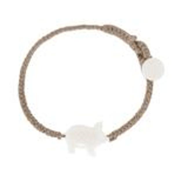 WB Pig Bracelet- Rosy Brown