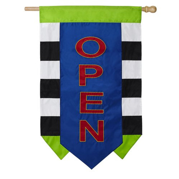 Open applique house banner