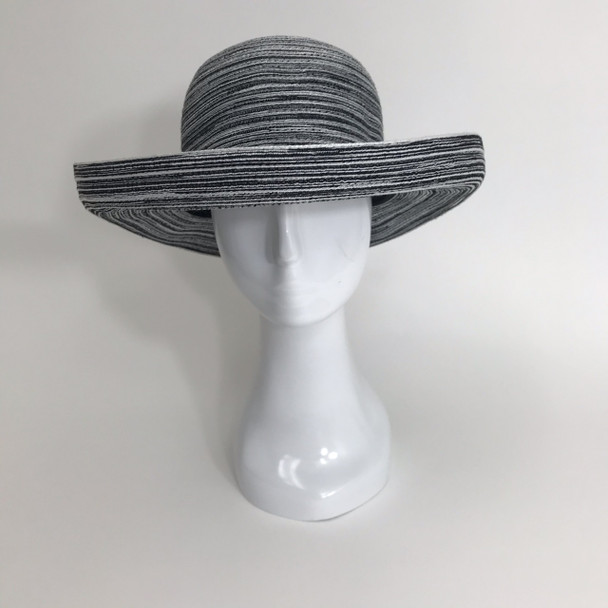 Black / White Roll Brim Sun Hat