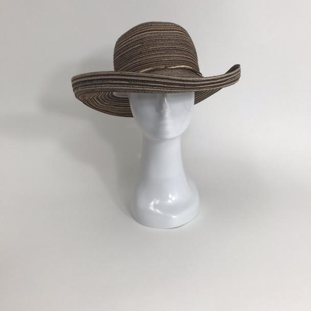 Brown Roll Brim Sun Hat