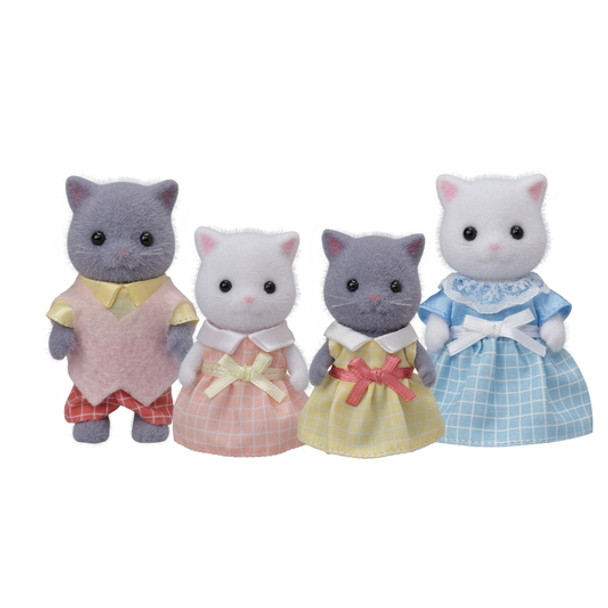 Calico Critters Persian Cat Family (New)