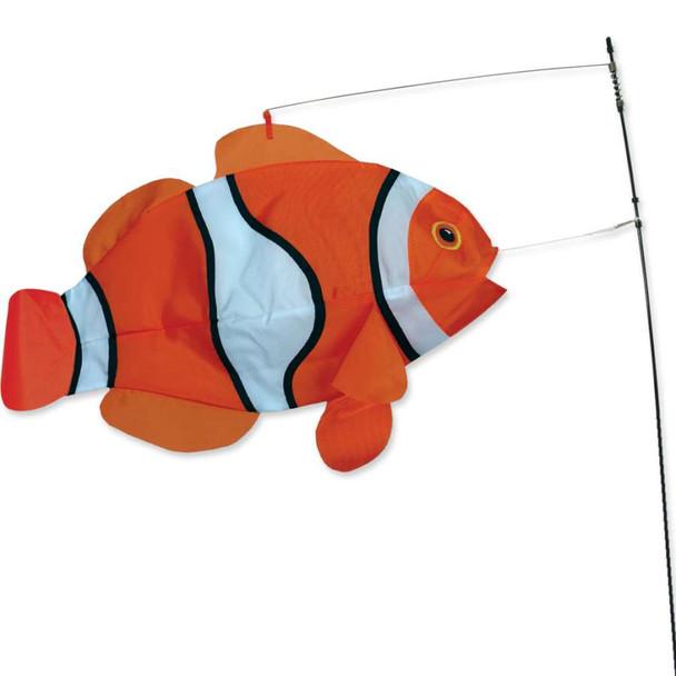 Swimming Clown Fish yard art