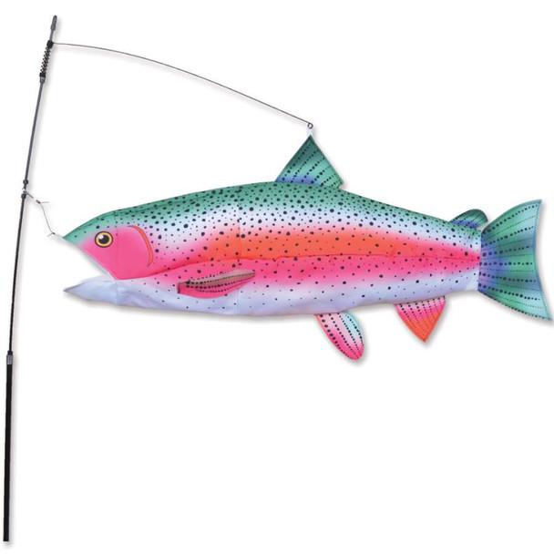 Swimming Rainbow Trout yard art