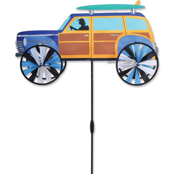 Woody Car with Surfboard spinner