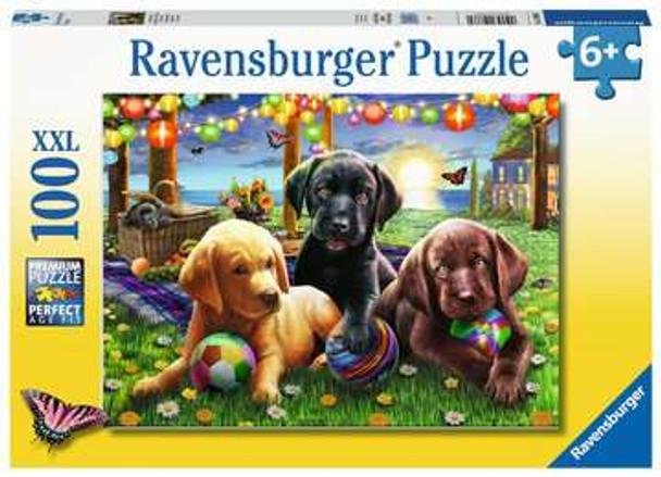 Puppy Picnic 100 pc XXL Puzzle