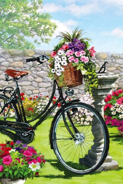 Garden Bicycle  House Flag