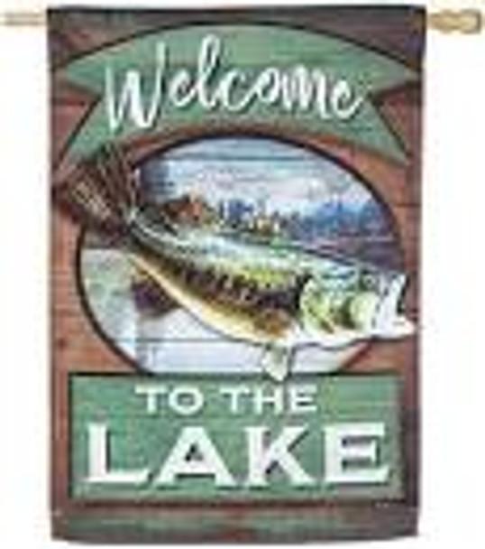 Lake Fish Welcome House Flag