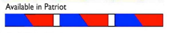 Patriotic Transition Kite Tail - 24ft