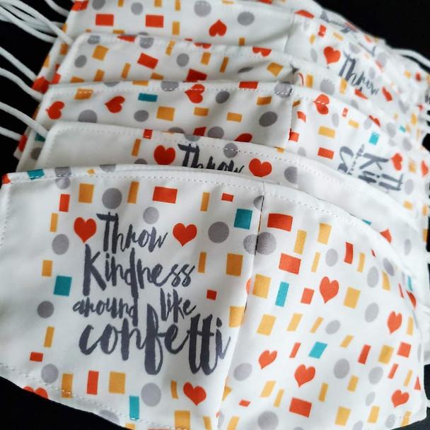 Adult Face Mask Confetti Kindness