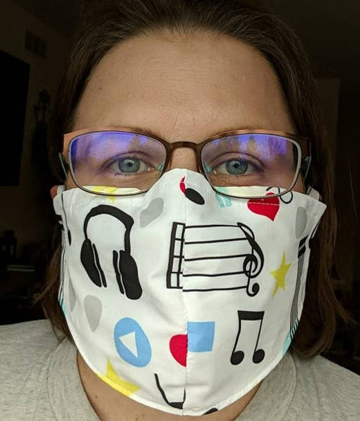 Adult Face Mask - Music