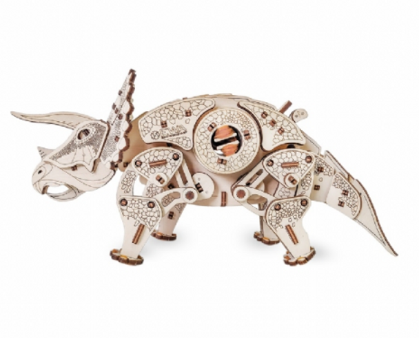 Eco Wood Art - Walking Triceratops