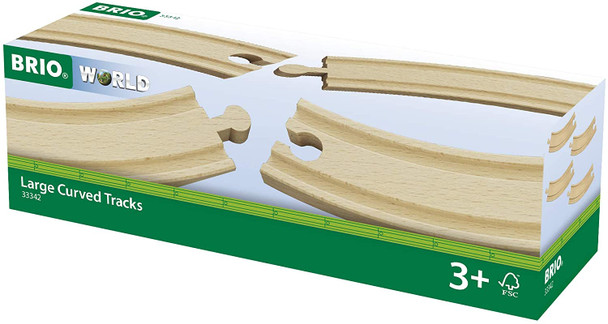 Large Curved Track pieces for wooden train sets