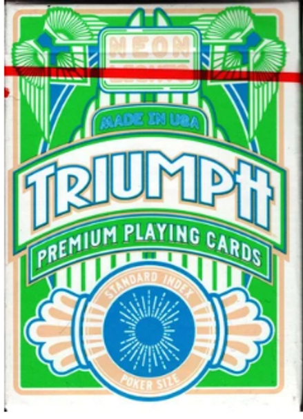 Triumph Neon Playing Cards