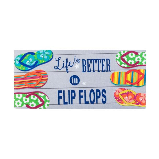 Life is Better in Flip Flops Sassafras Mat