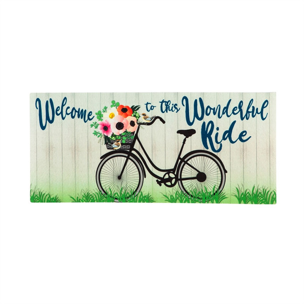 Welcome Wonderful Bike Ride Sassafras Mat
