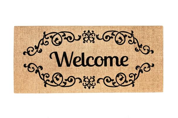 Welcome Scroll Sassafras Mat