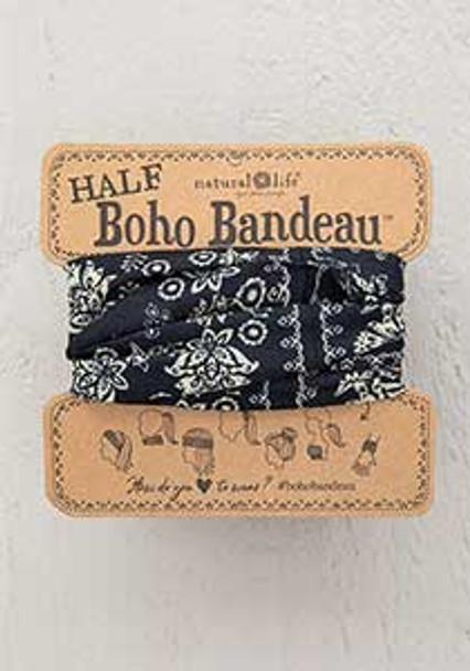 Black Cream Mandala Half Boho Bandeau