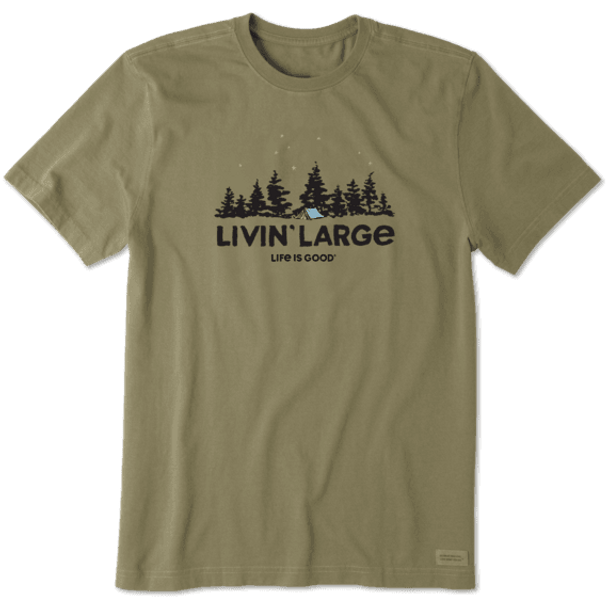 Livin' Large Tent Camp  unisex/mens tee