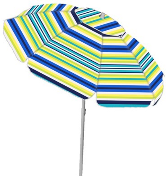 7' Poly Stripe Umbrella