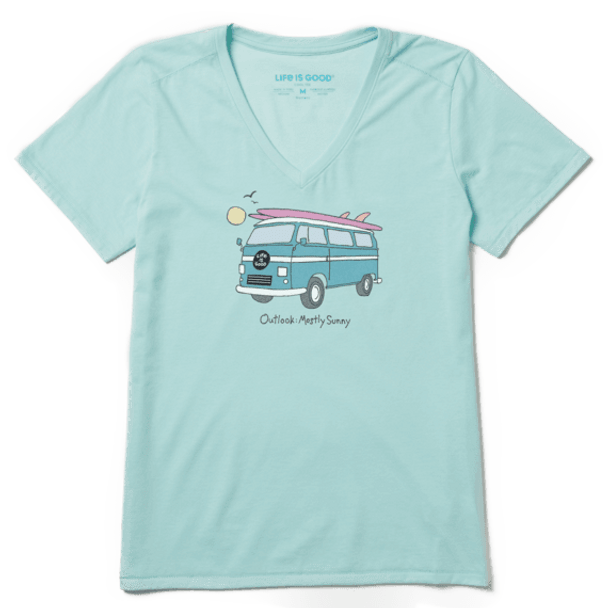Outlook: Mostly Sunny women's tee