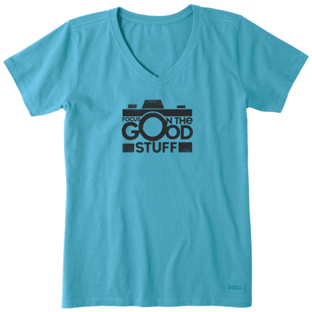 Focus on the Good Stuff  women's tee
