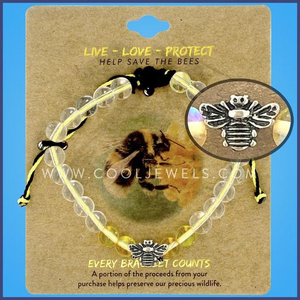 Live Love Protect Bee bracelet