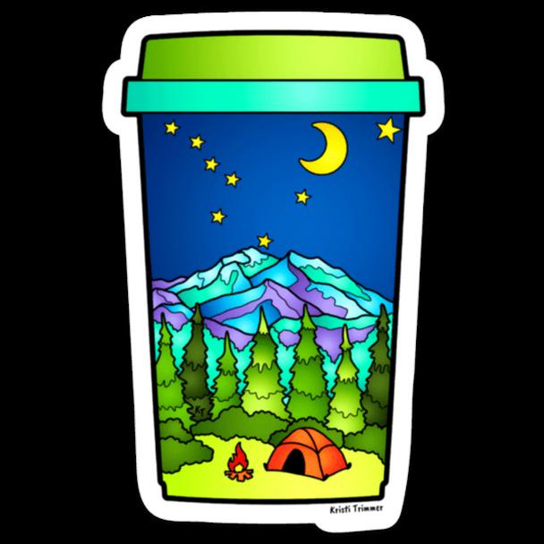 Camping Coffee sticker