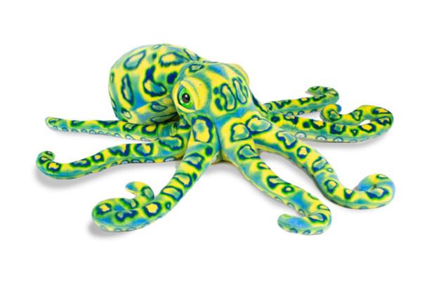 "Octopus 13"" blue green plush"